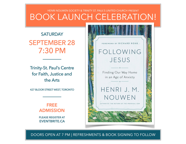 henri nouwen book launch